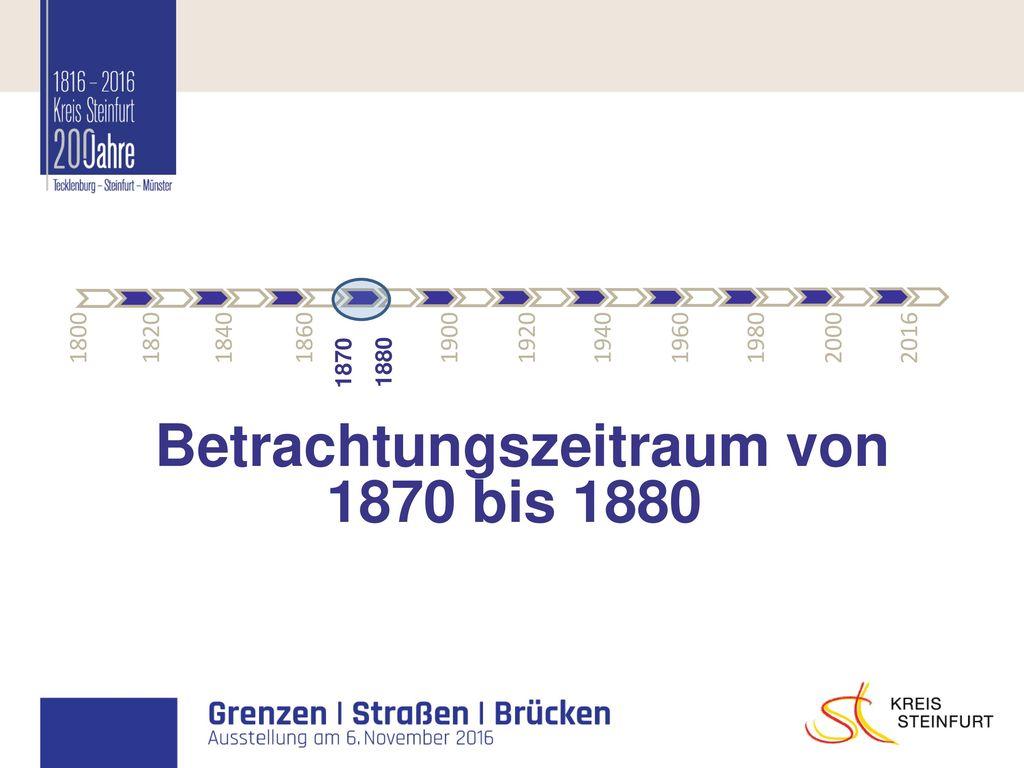 Betrachtungszeitraum von 1870 bis 1880
