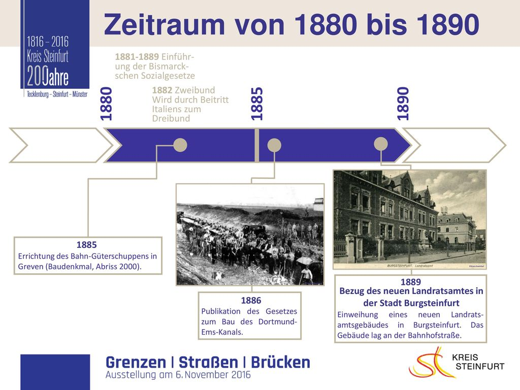 Bezug des neuen Landratsamtes in der Stadt Burgsteinfurt