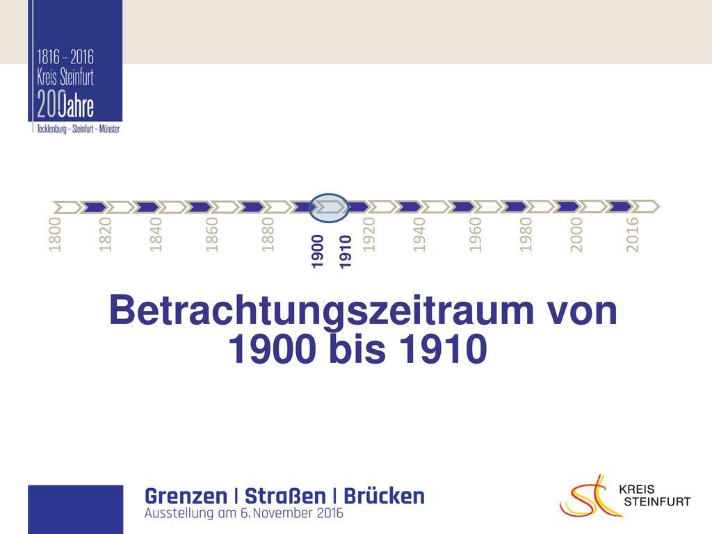 Betrachtungszeitraum von 1900 bis 1910
