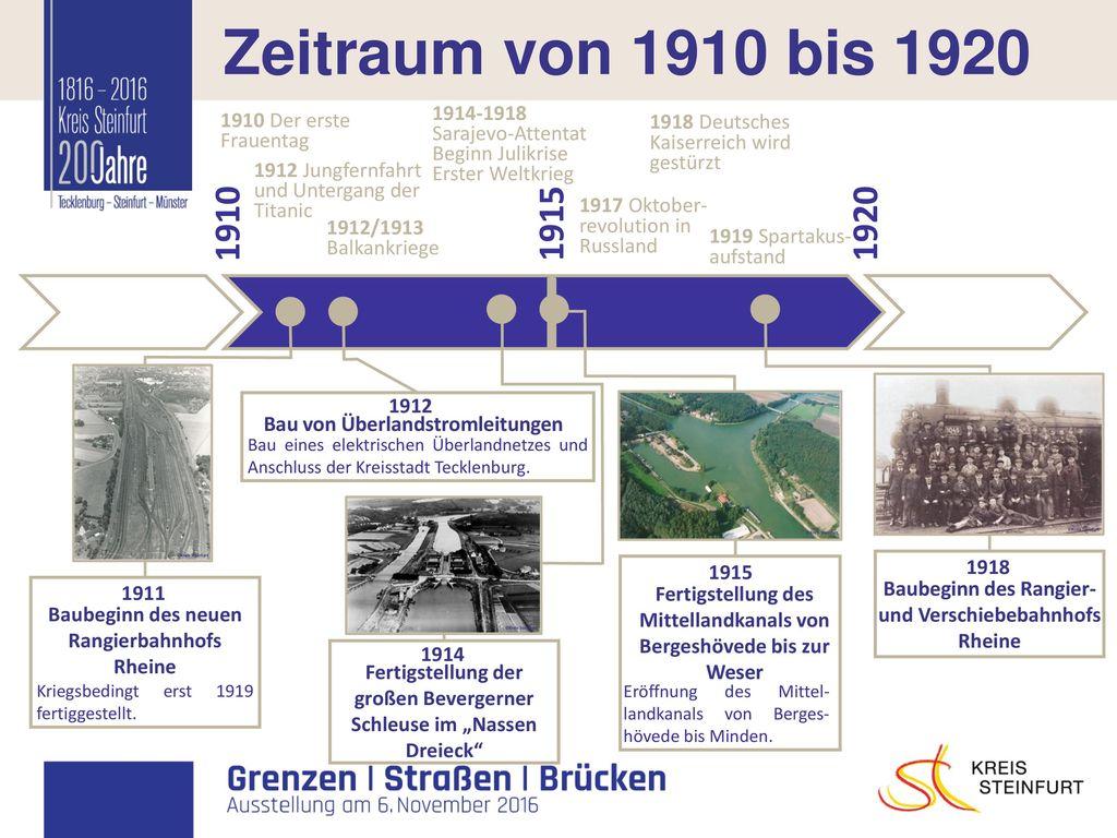 I Zeitraum von 1910 bis 1920 1910 1915 1920 1914-1918 1910 Der erste