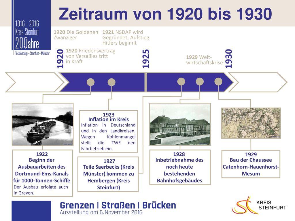 I Zeitraum von 1920 bis 1930 1920 1925 1930 1920 Die Goldenen