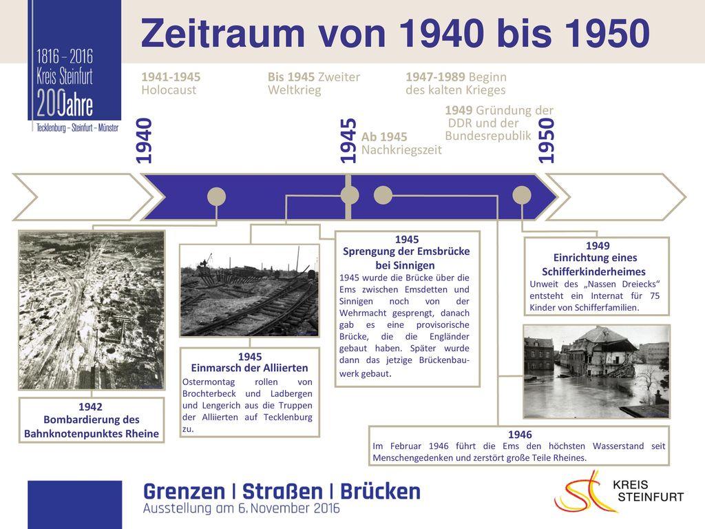 I Zeitraum von 1940 bis 1950 1940 1945 1950 1947-1989 Beginn