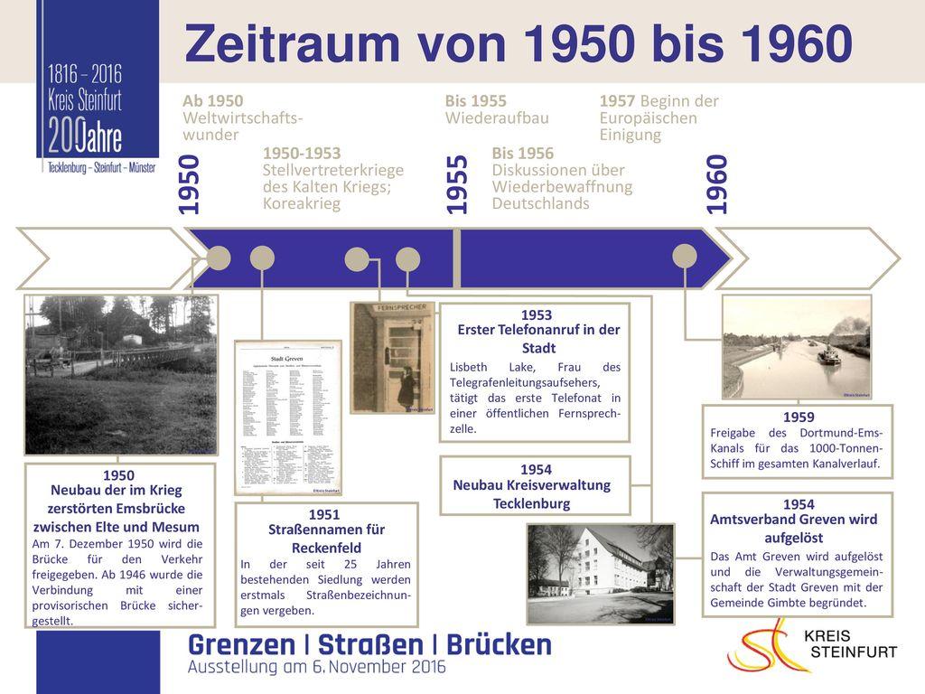 I Zeitraum von 1950 bis 1960 1950 1955 1960 Bis 1955 Ab 1950