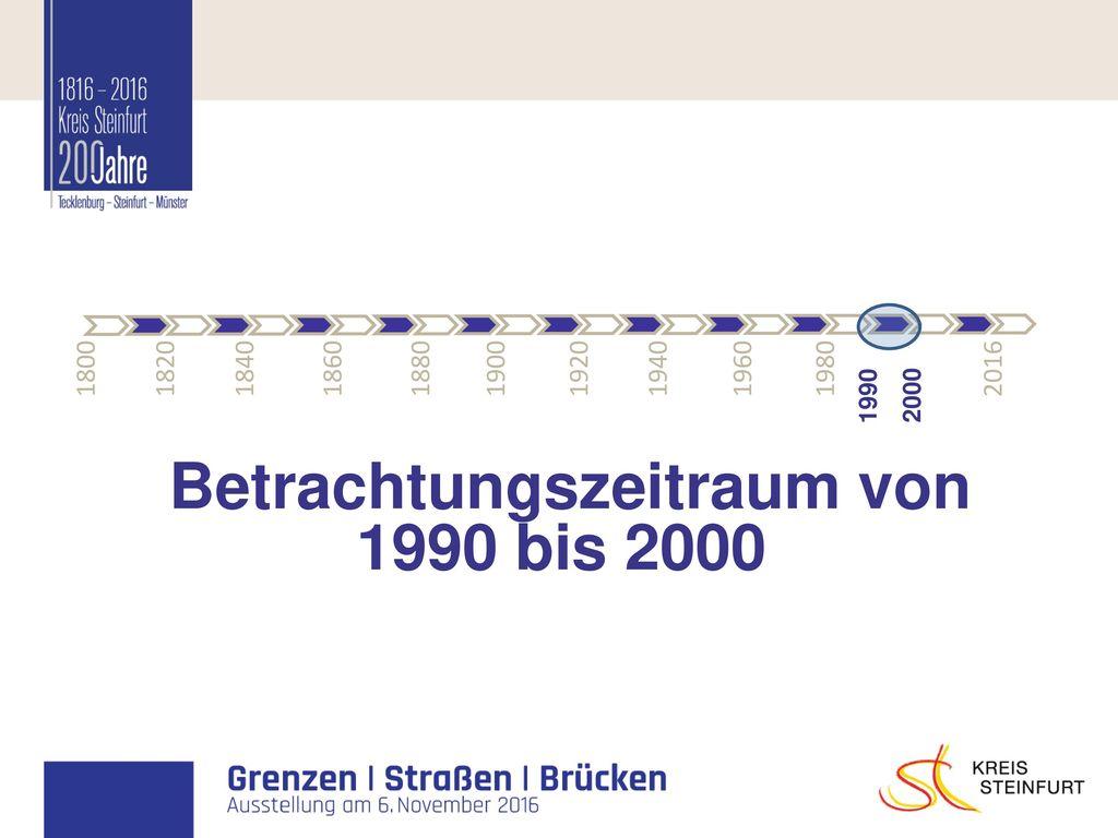 Betrachtungszeitraum von 1990 bis 2000