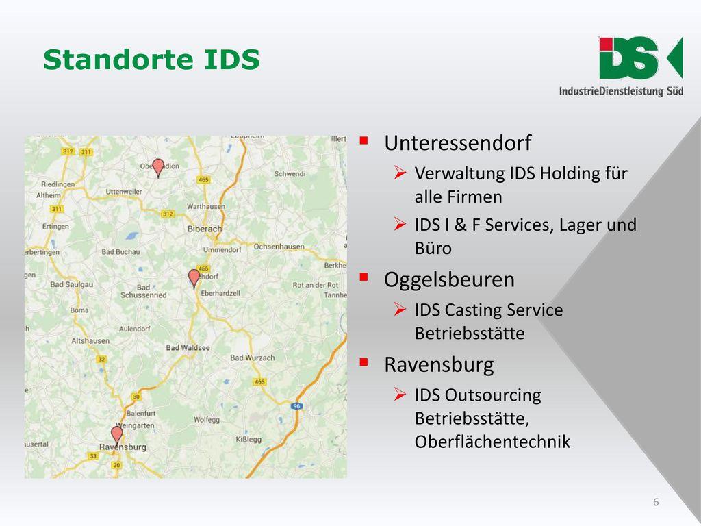 Standorte IDS Unteressendorf Oggelsbeuren Ravensburg
