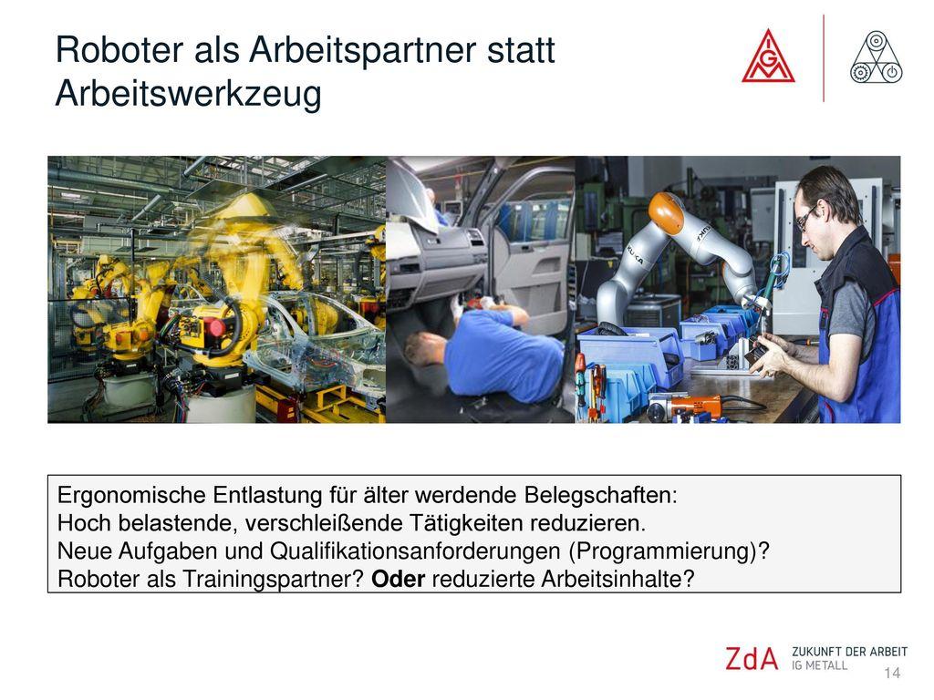 Roboter als Arbeitspartner statt Arbeitswerkzeug