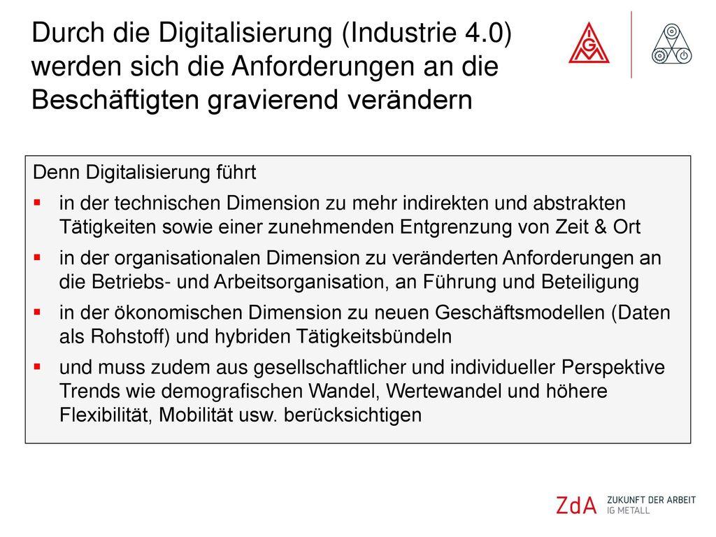 Durch die Digitalisierung (Industrie 4