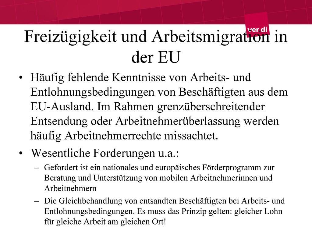 Freizügigkeit und Arbeitsmigration in der EU