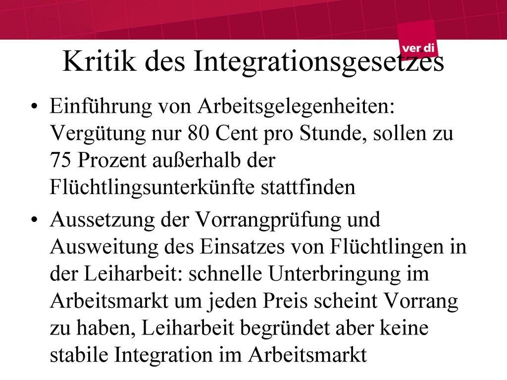 Kritik des Integrationsgesetzes