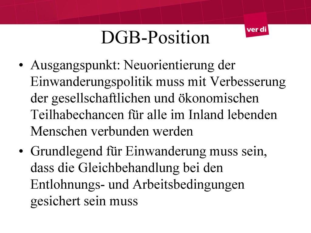DGB-Position