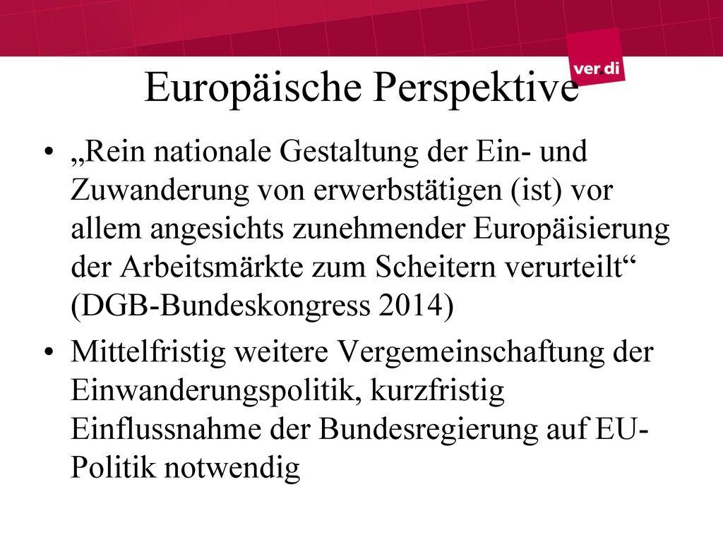 Europäische Perspektive