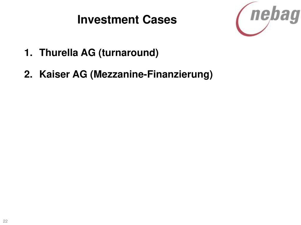 Investment Cases Thurella AG (turnaround)