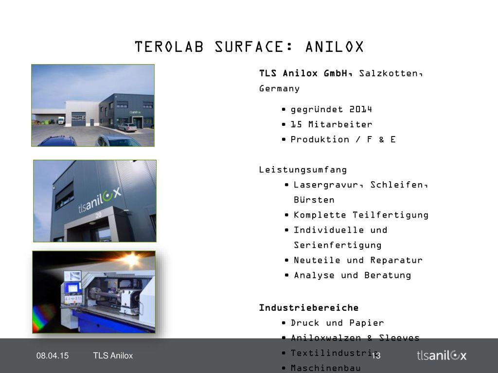 TEROLAB SURFACE: ANILOX
