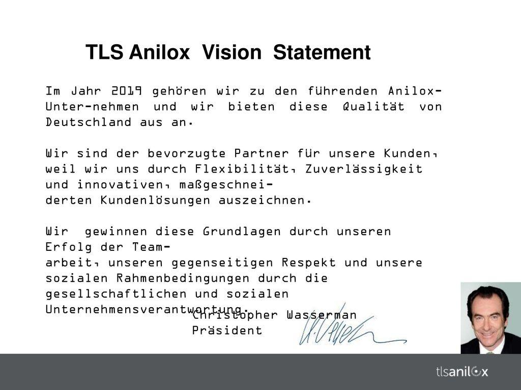 TLS Anilox Vision Statement