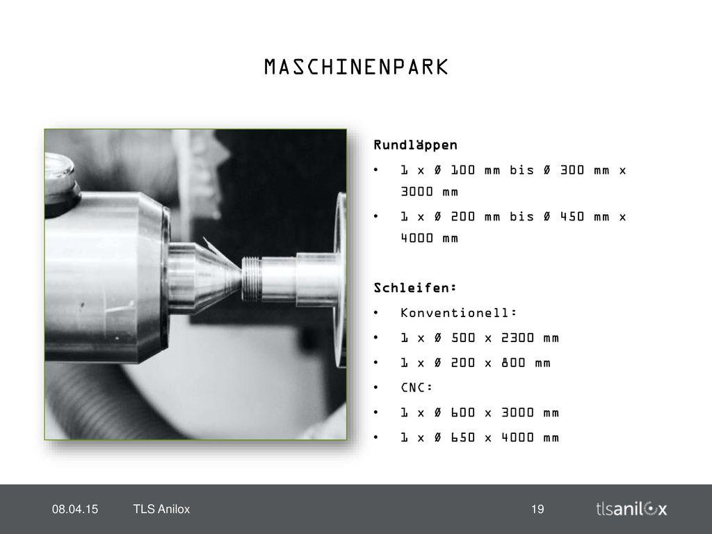 MASCHINENPARK Rundläppen 1 x Ø 100 mm bis Ø 300 mm x 3000 mm