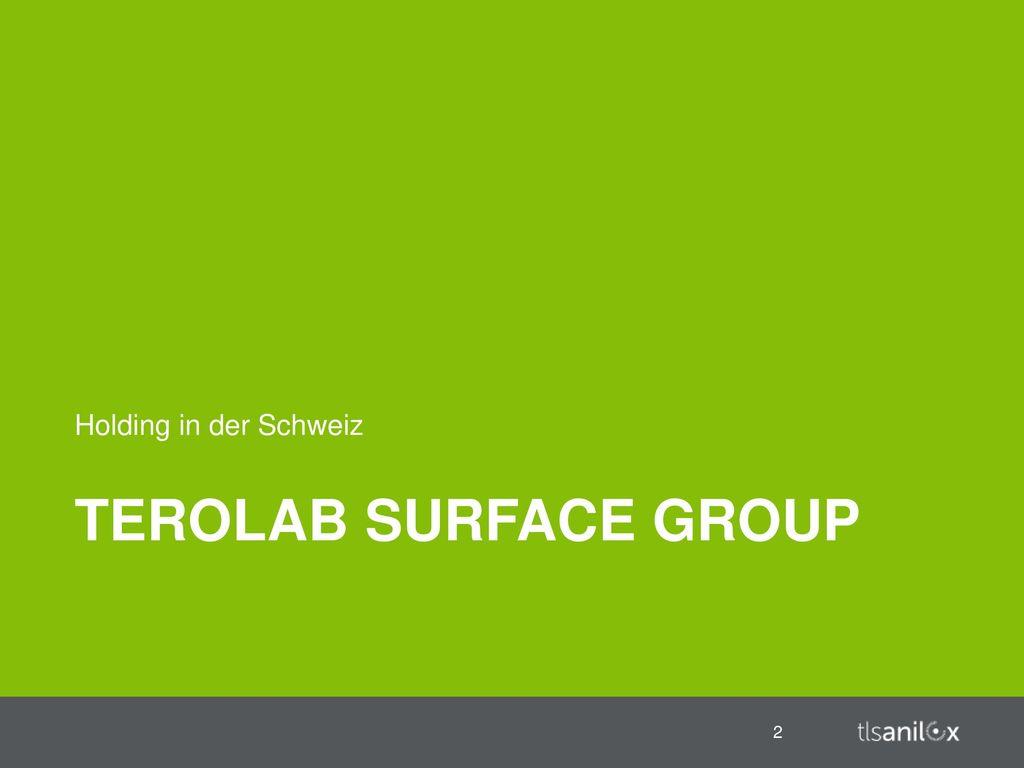 Holding in der Schweiz Terolab Surface Group