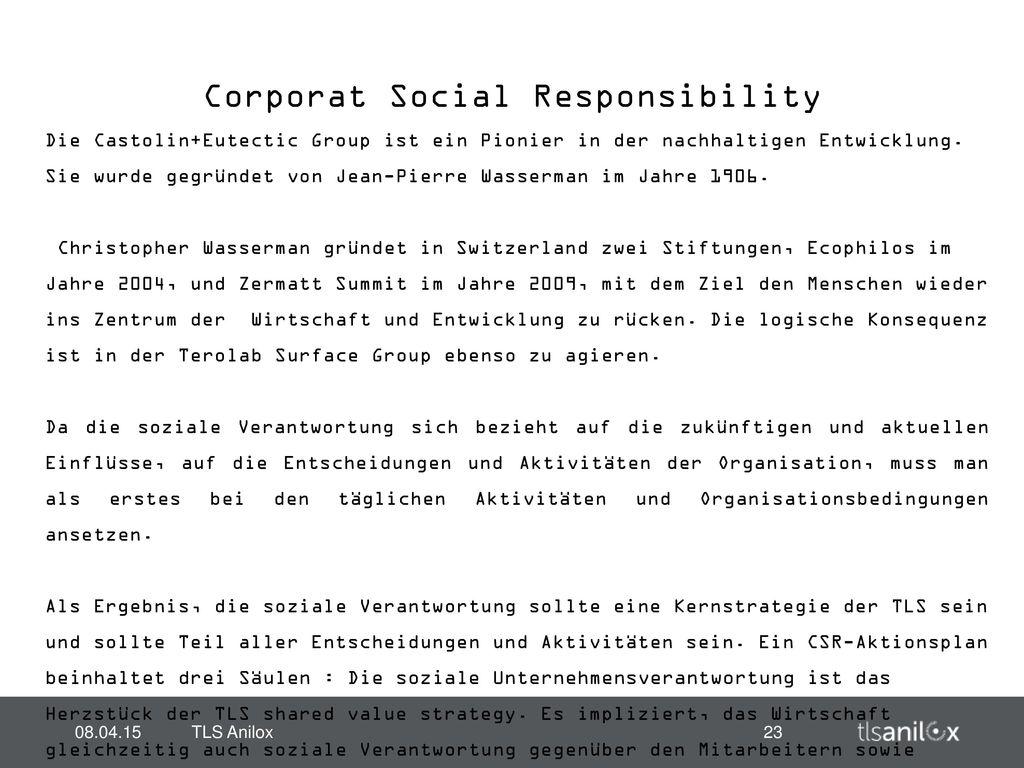 Corporat Social Responsibility