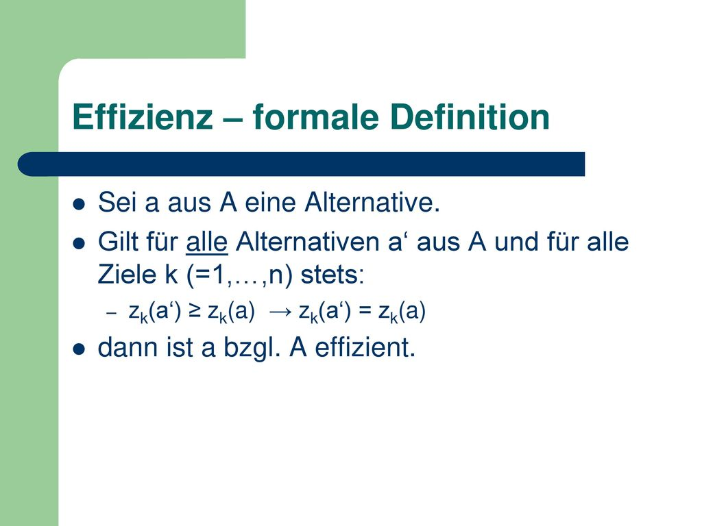 Effizienz – formale Definition