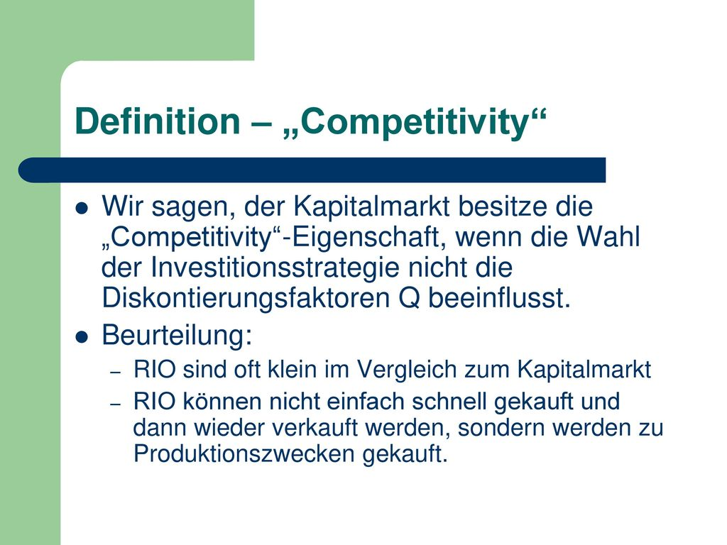 "Definition – ""Competitivity"