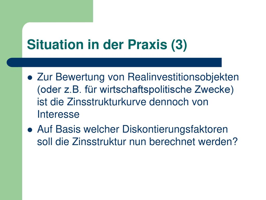 Situation in der Praxis (3)