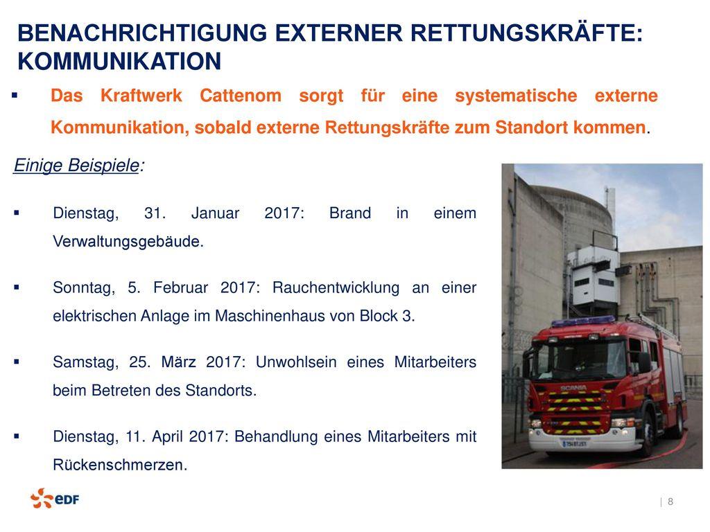 BENACHRICHTIGUNG EXTERNER RETTUNGSKRÄFTE: KOMMUNIKATION