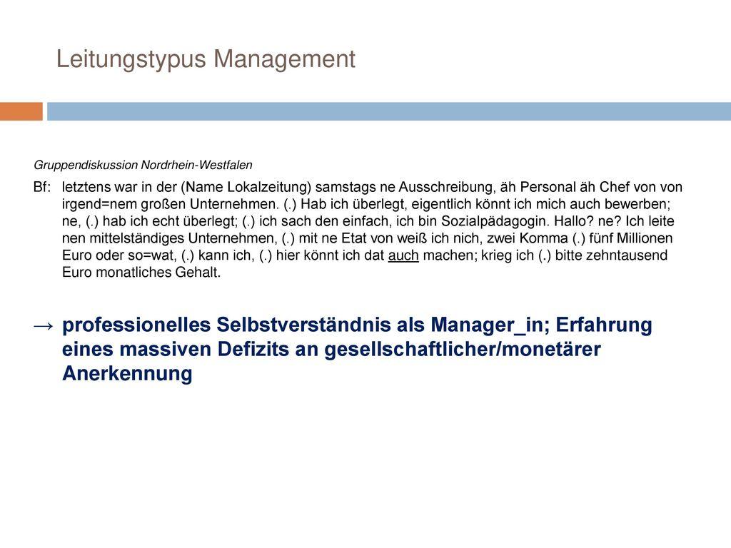 Leitungstypus Management