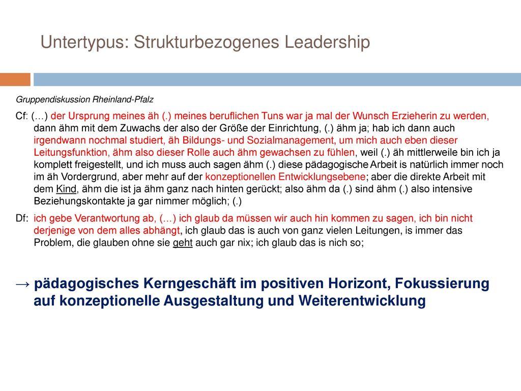 Untertypus: Strukturbezogenes Leadership