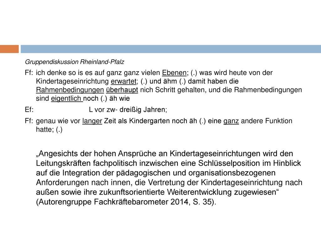 Gruppendiskussion Rheinland-Pfalz