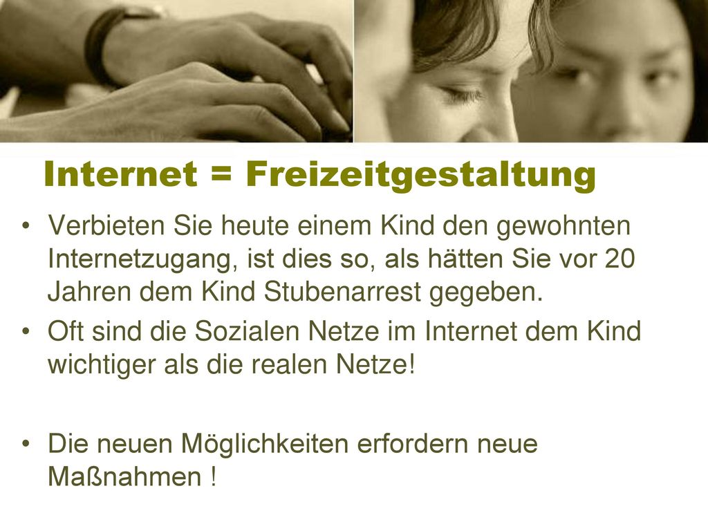 Internet = Freizeitgestaltung
