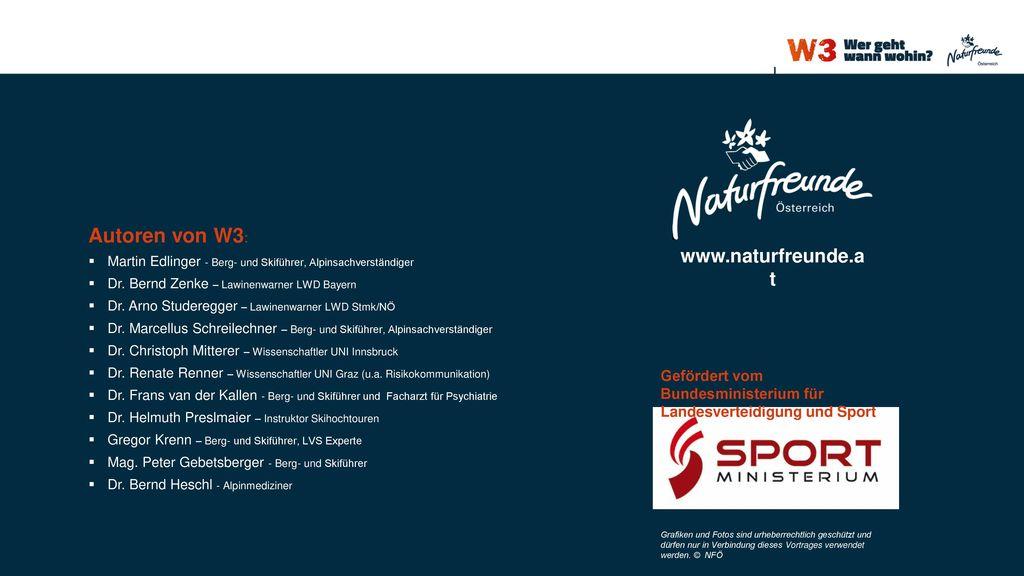 Autoren von W3: www.naturfreunde.at