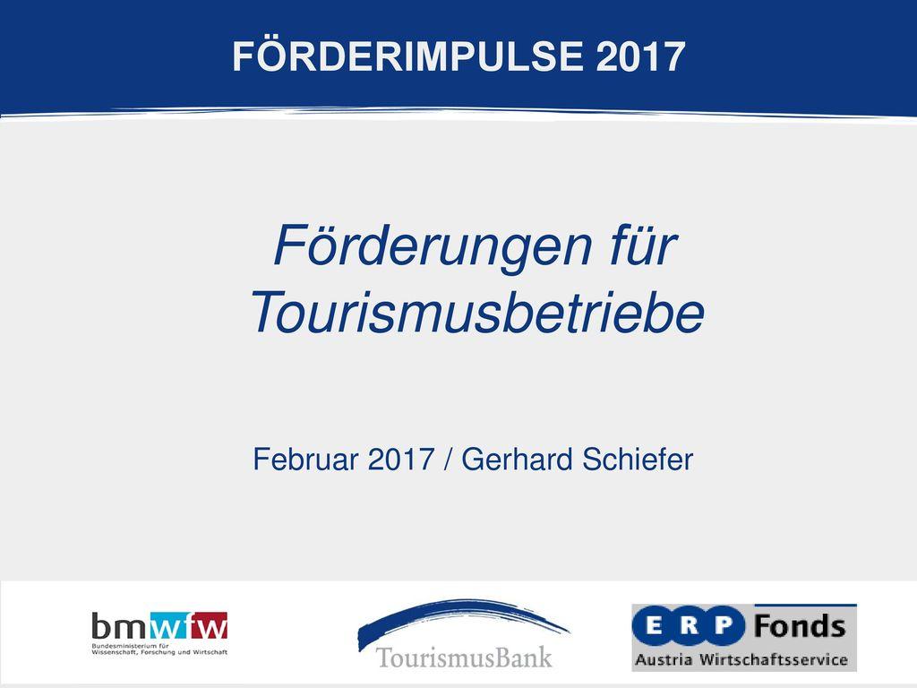 Förderungen für Tourismusbetriebe