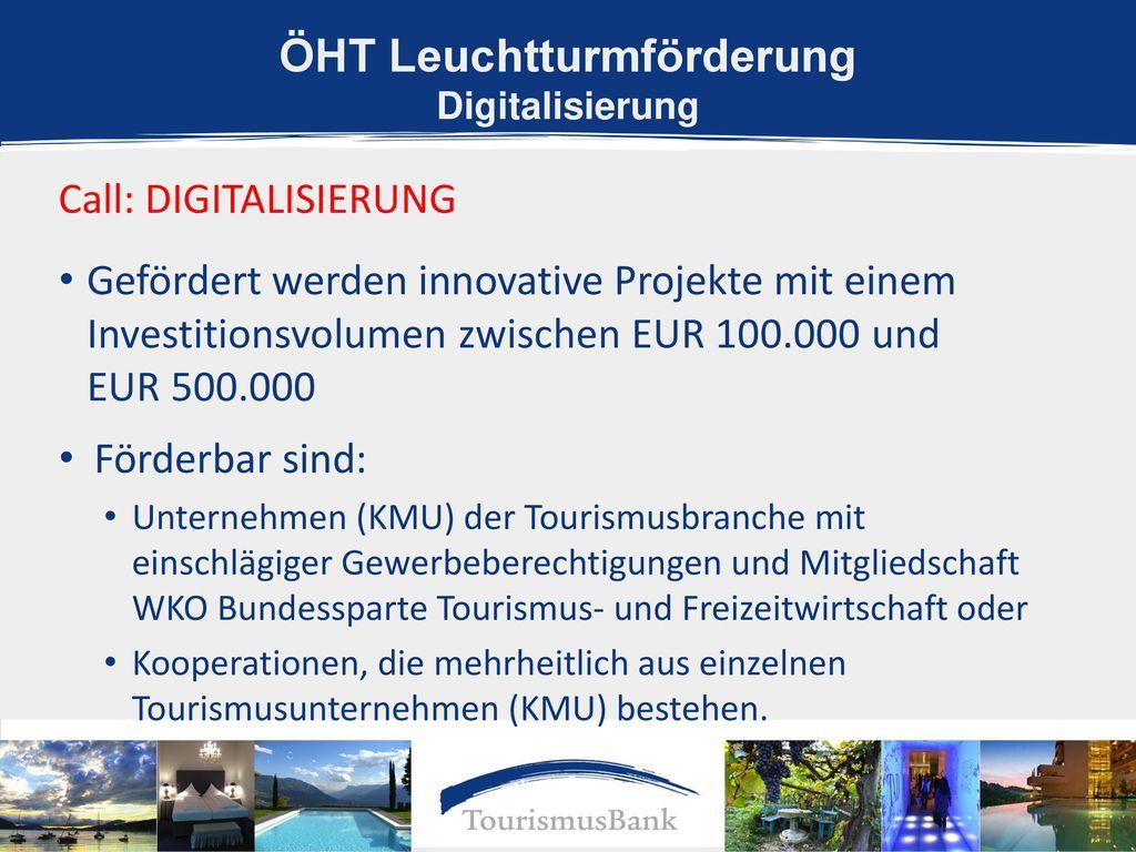 ÖHT Leuchtturmförderung Digitalisierung