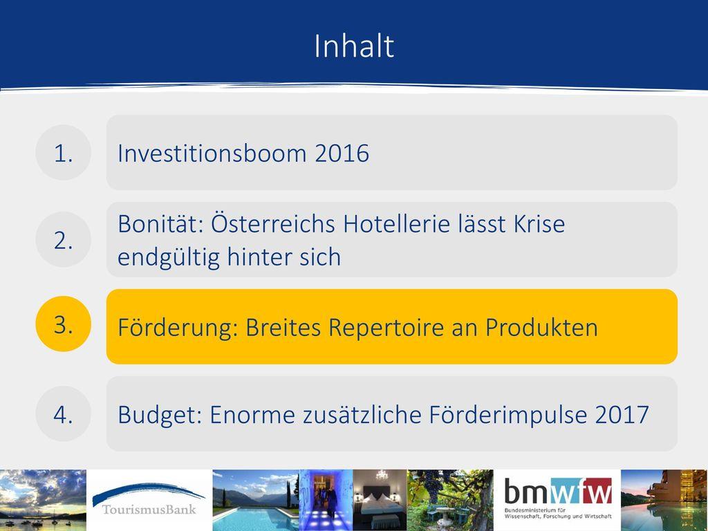 Inhalt Investitionsboom 2016 1.