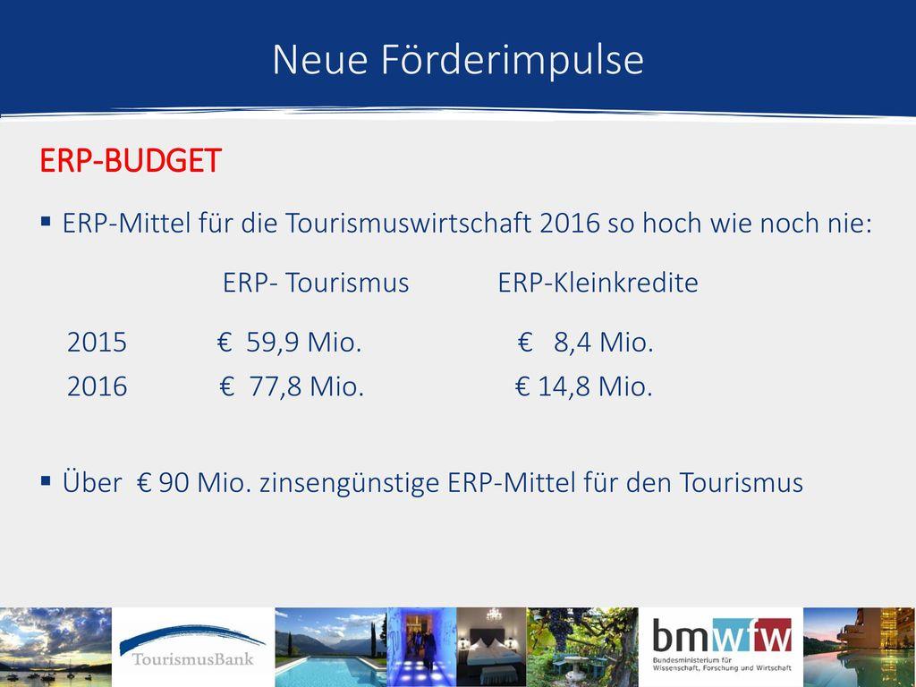 Neue Förderimpulse ERP-Budget