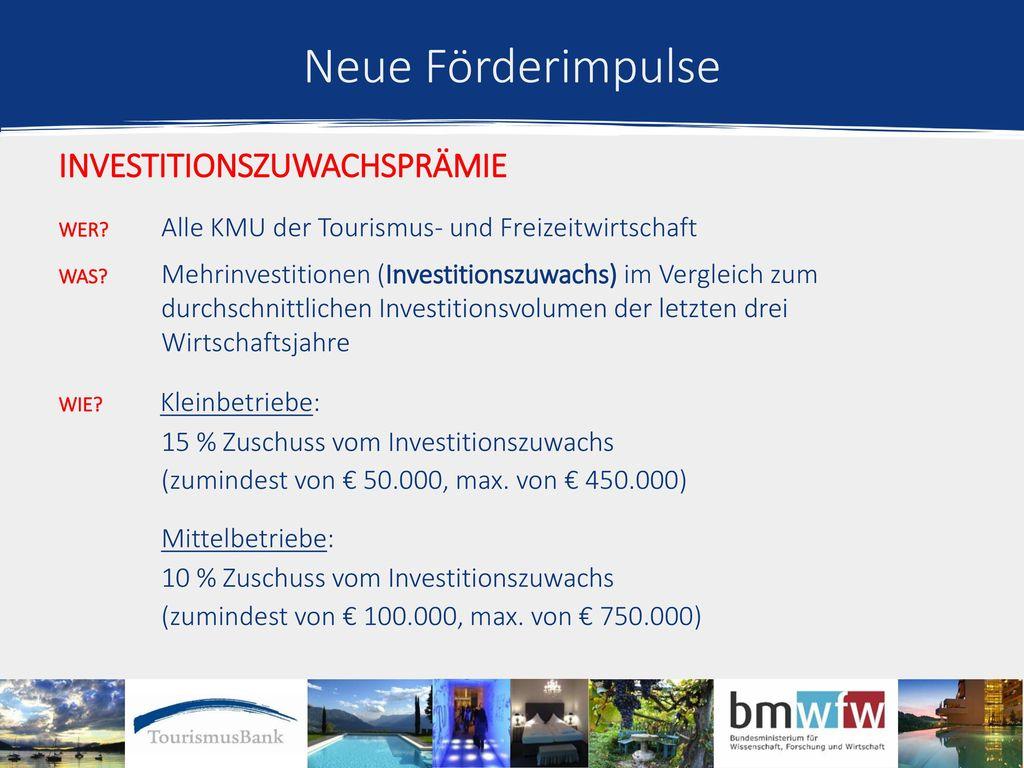 Neue Förderimpulse Investitionszuwachsprämie