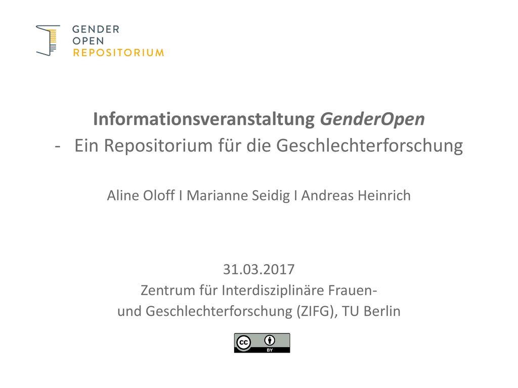 Informationsveranstaltung GenderOpen