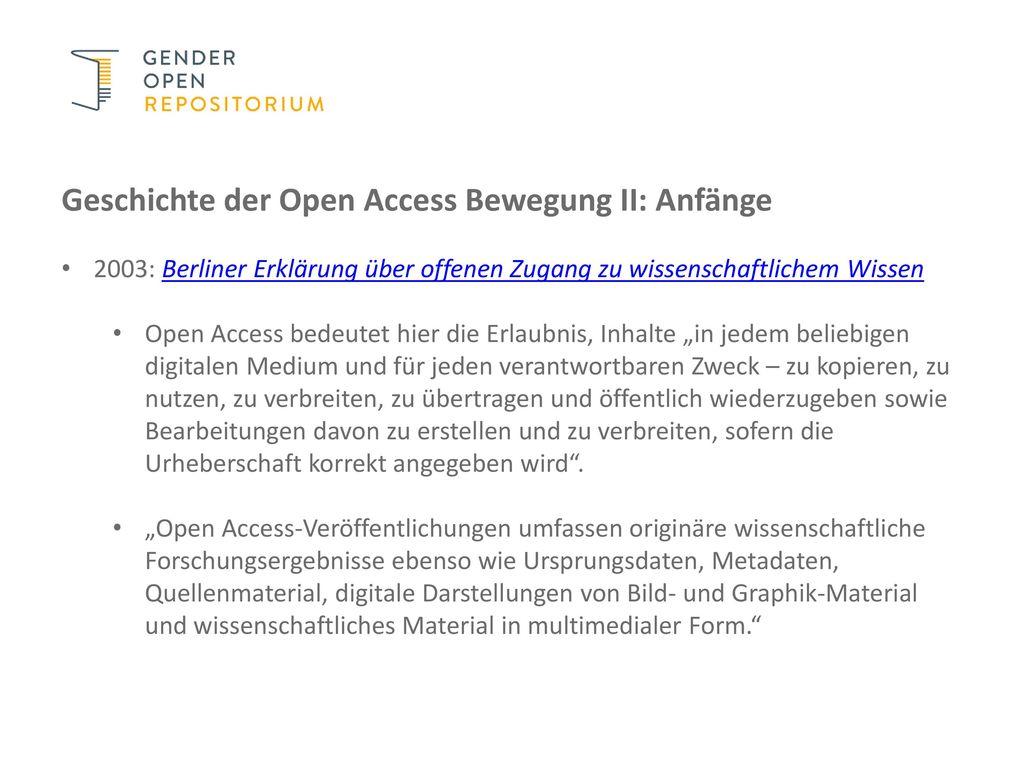 Geschichte der Open Access Bewegung II: Anfänge