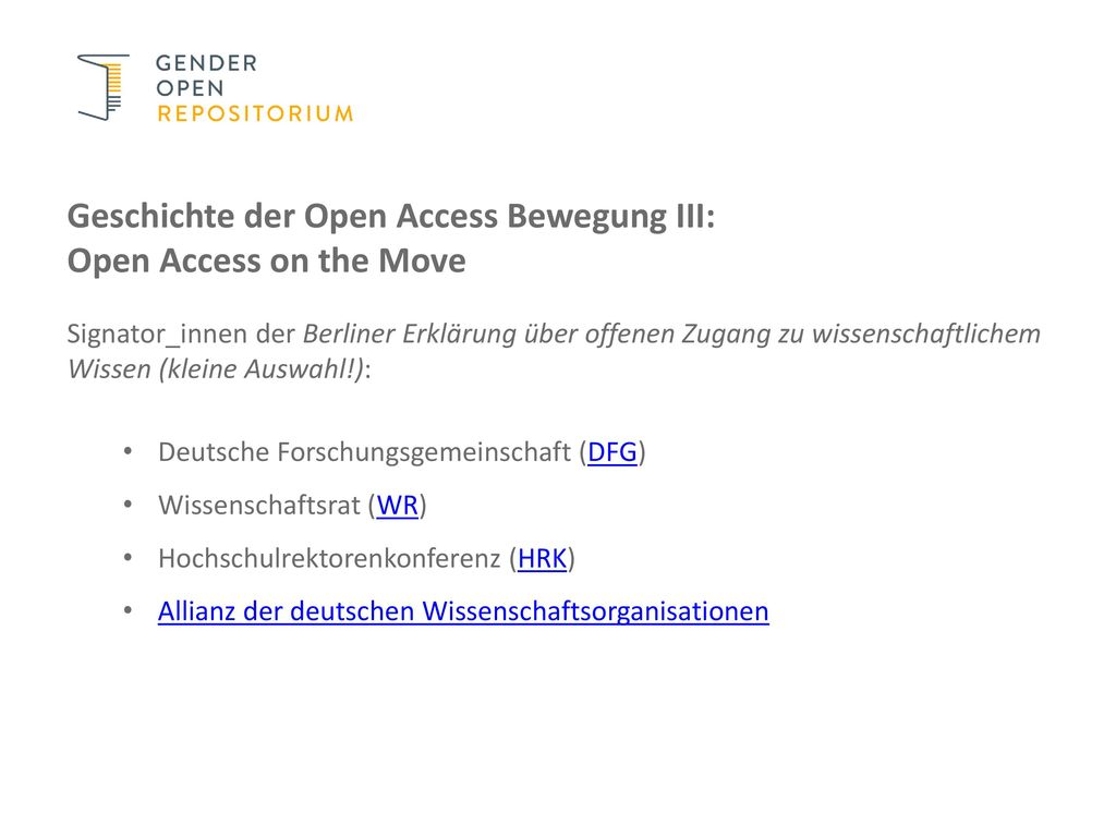 Geschichte der Open Access Bewegung III: Open Access on the Move