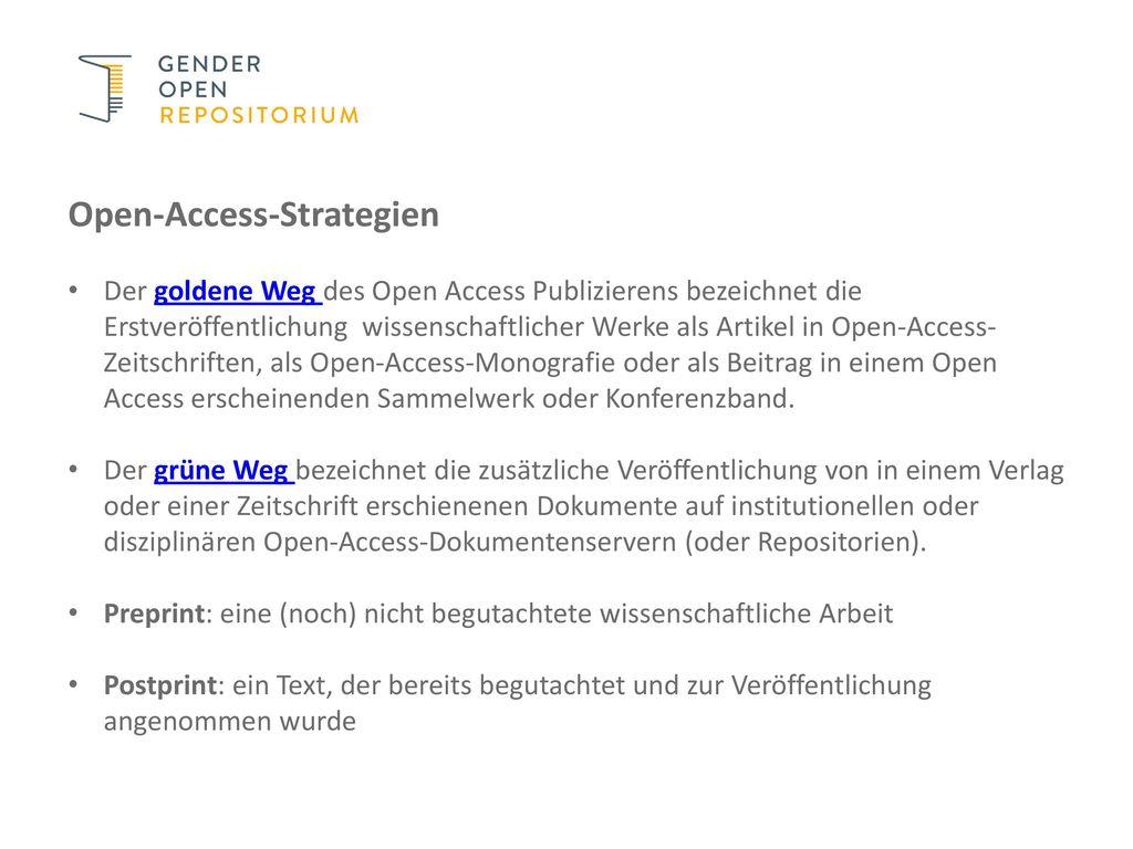Open-Access-Strategien