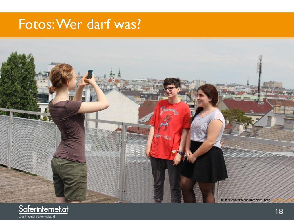 Fotos: Wer darf was Recht am eigenen Bild: