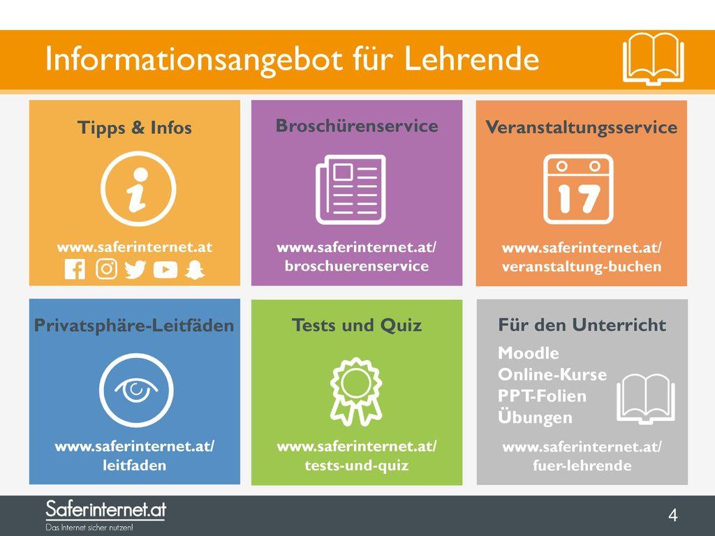 Informationsangebot für Lehrende