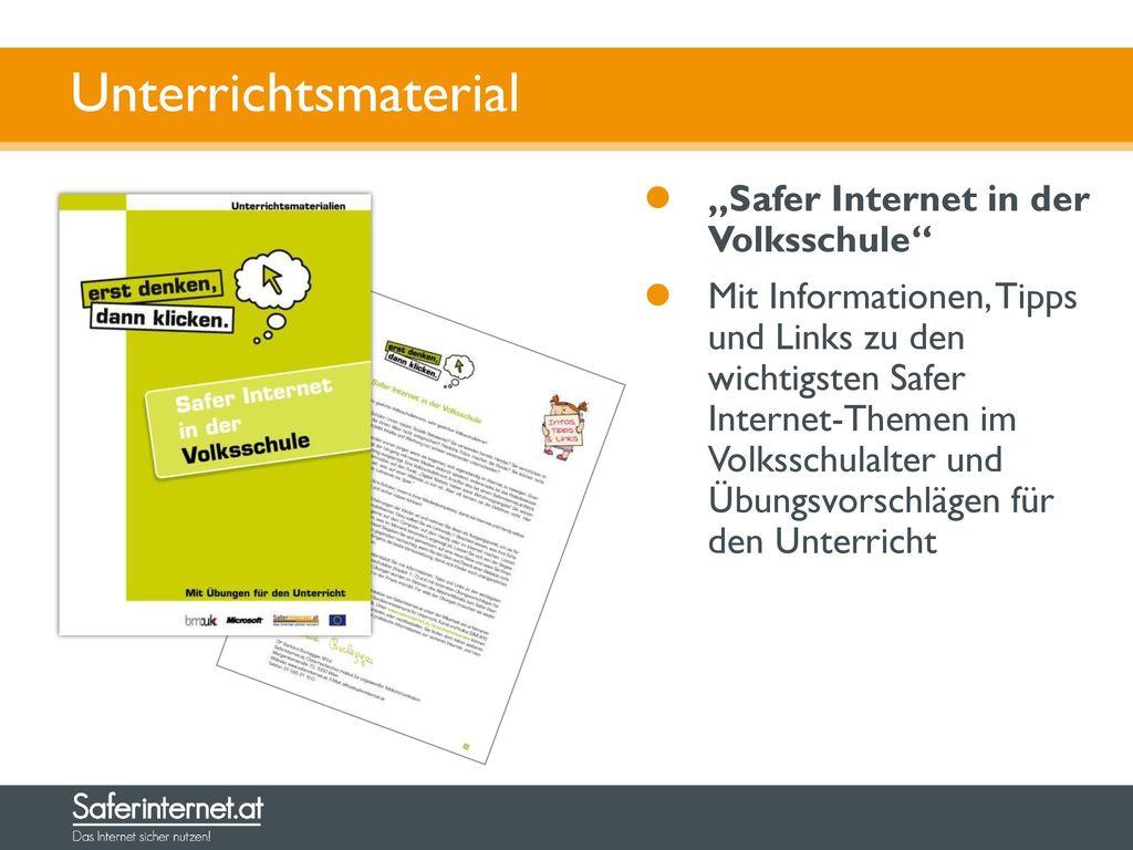"""Unterrichtsmaterial """"Safer Internet in der Volksschule"""