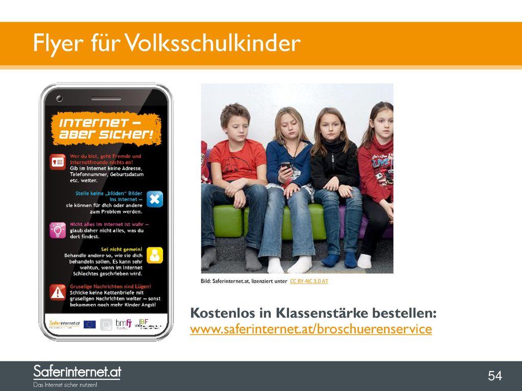 Flyer für Volksschulkinder