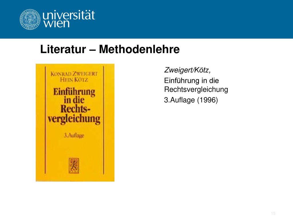 Literatur – Methodenlehre