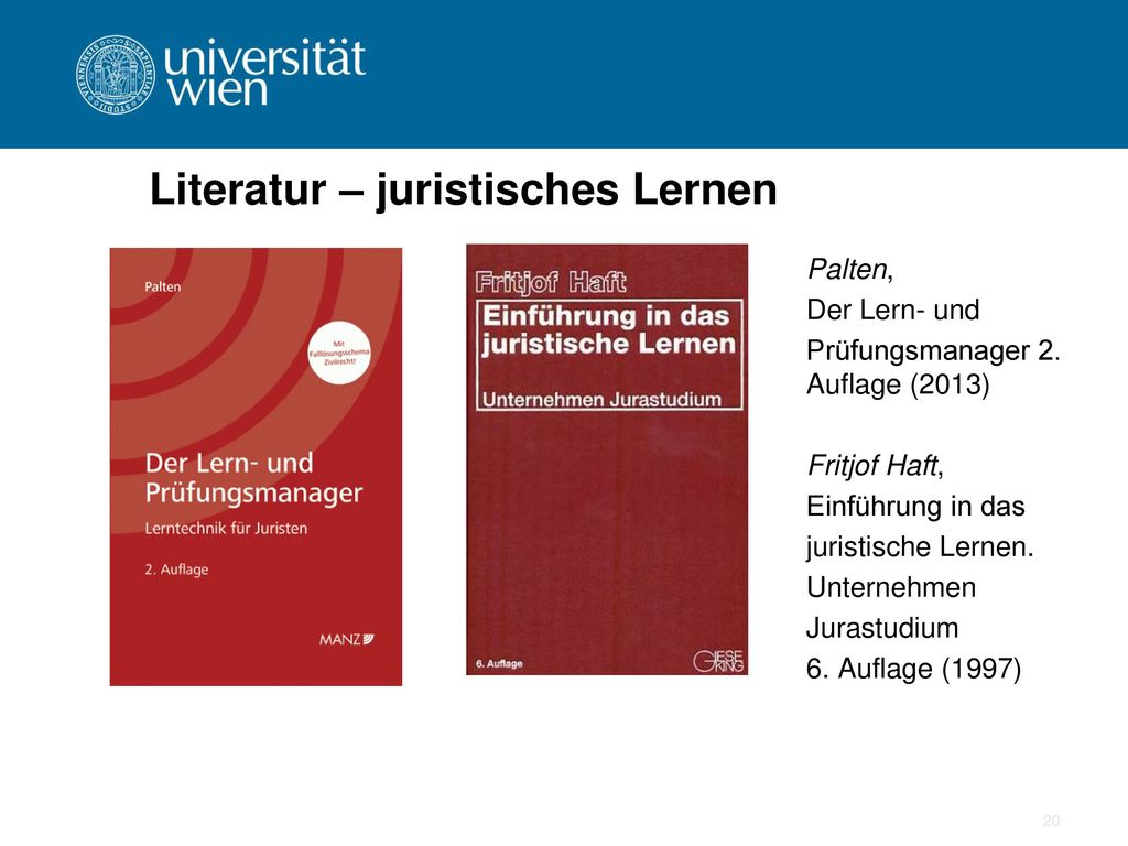 Literatur – juristisches Lernen