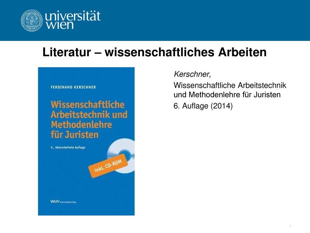 Literatur – wissenschaftliches Arbeiten