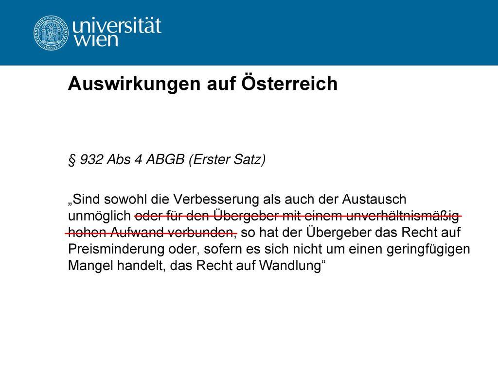 Auswirkungen auf Österreich