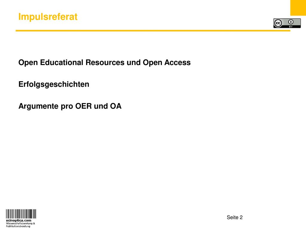 Impulsreferat Open Educational Resources und Open Access