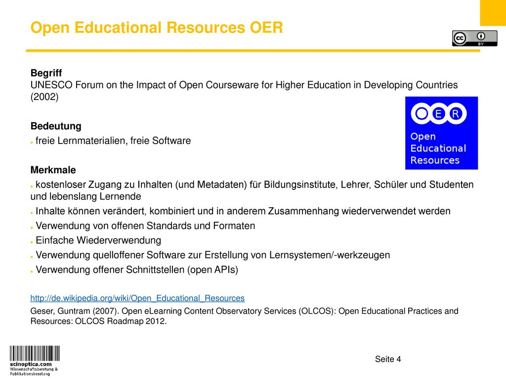 Open Educational Resources OER