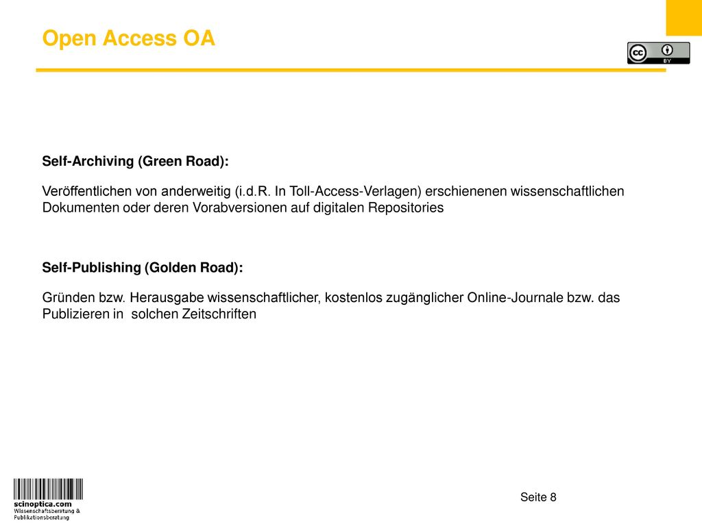 Open Access OA Self-Archiving (Green Road):